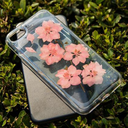 Real Pressed Flower Clear TPU Case ..