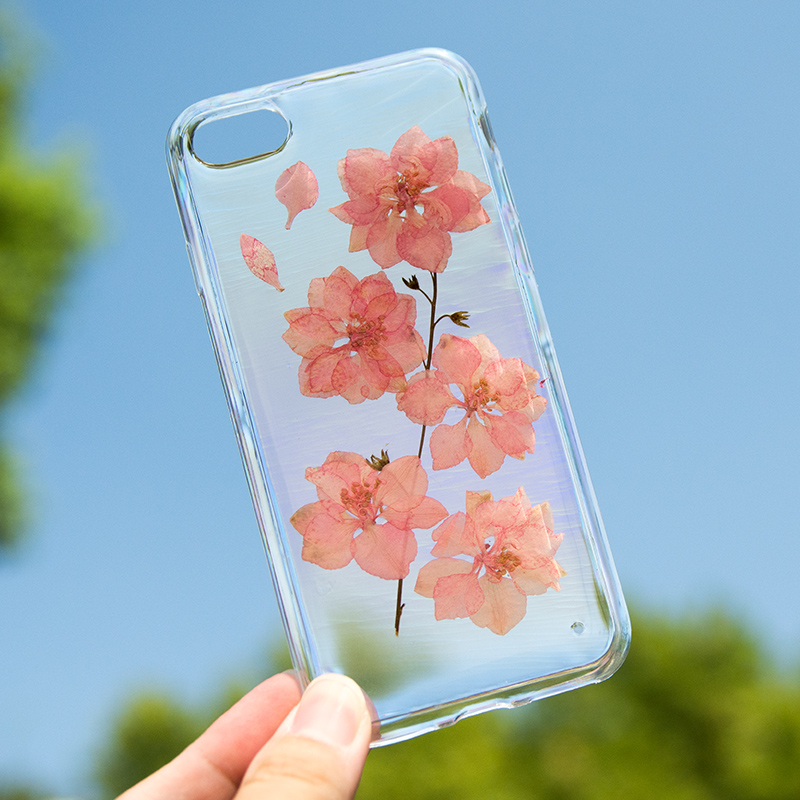 Real Pressed Flower Clear TPU Case Cover for iPhone 6,iPhone 6s,iPhone 6 Plus,iPhone 6s Plus iPhone Protective Skin