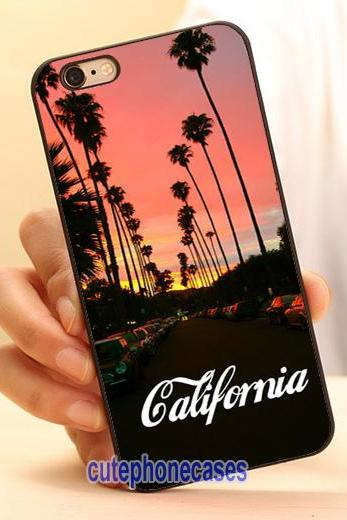California Cell Phone Case Cover for iPhone 4 4S 5 5S 5C SE 6 6S 7 Plus,Samsung Galaxy S3 S4 S5 S6 S7 Edge