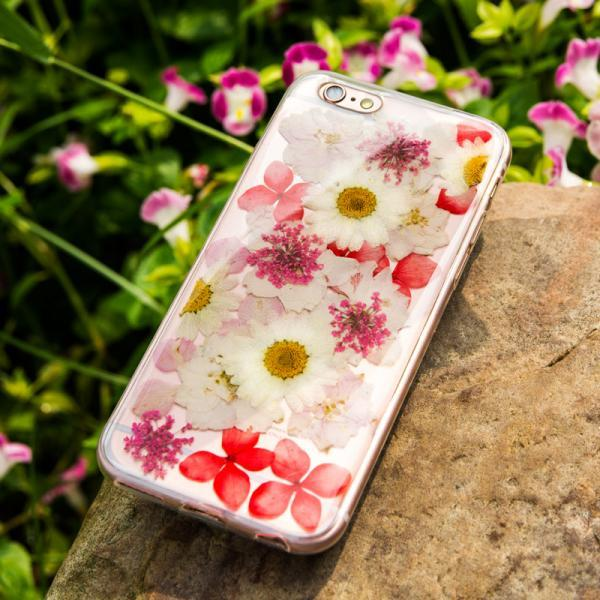 Real Pressed Flower iPhone 6 Case,iPhone 6 Plus Case,TPU rubber iphone 6s case iphone 6s plus case