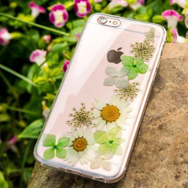 Real Pressed Flower Silicone TPU Case cover for iPhone 6/6s,iPhone 6 plus/6s Plus